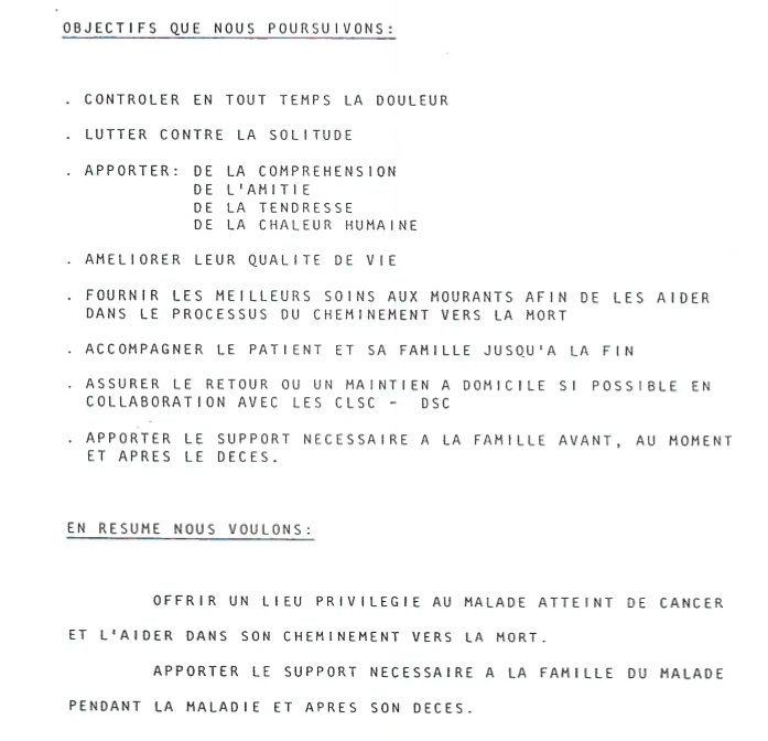 Extraits des objectifs recherchés dans un document de projet
